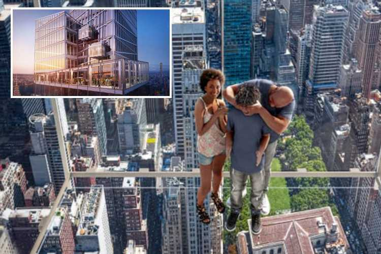Terrifying all-glass elevator that will climb 1,210 feet up to open in New York City
