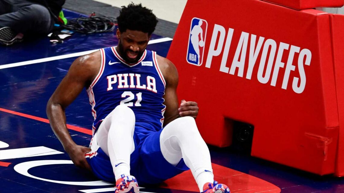 76ers lose Joel Embiid to hard fall in first quarter, then Wizards avoid NBA playoff sweep