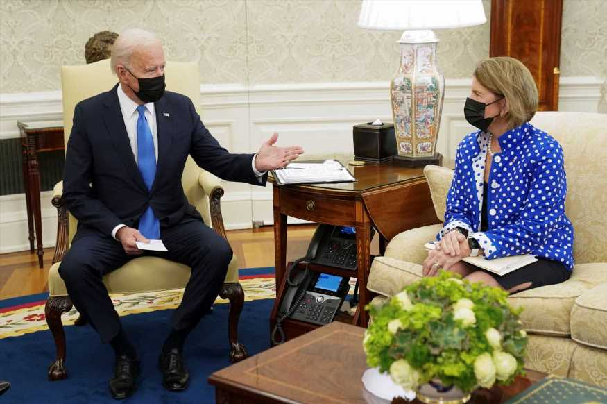 Biden and key Republican Capito agree to talk again Friday after Oval Office infrastructure meeting