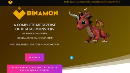 Binamon's Monster Metaverse Tops ERC-721 Transactions on Binance Smart Chain