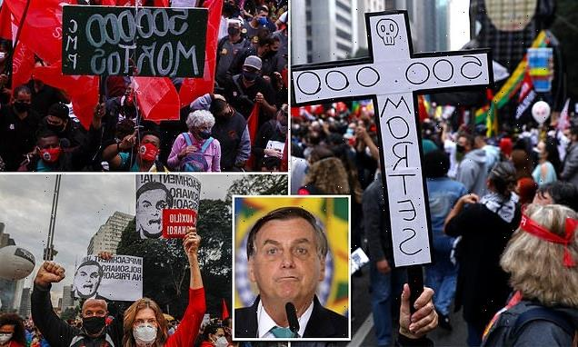 Brazilians blame president for country's 500,000 COVID deaths