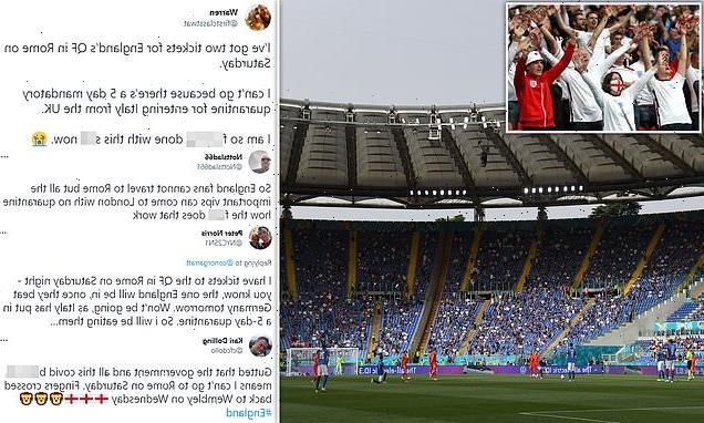England fans with tickets for Rome blast Italy's five-day quarantine