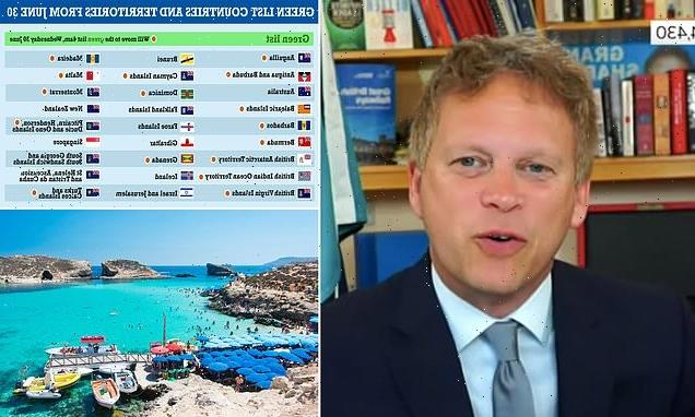 Grant Shapps REFUSES to say if he'd go on holiday to green list nation