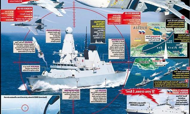 Russia warns it will bomb HMS Defender if it sails near Crimea again