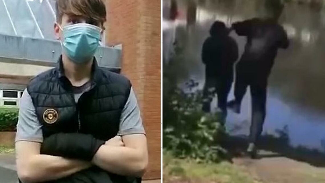 Teen, 19, who kicked pensioner, 74, into freezing canal before running away laughing jailed for ten weeks