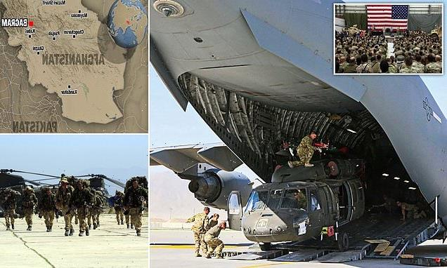 The last US troops are packing up and leaving Bagram in Afghanistan