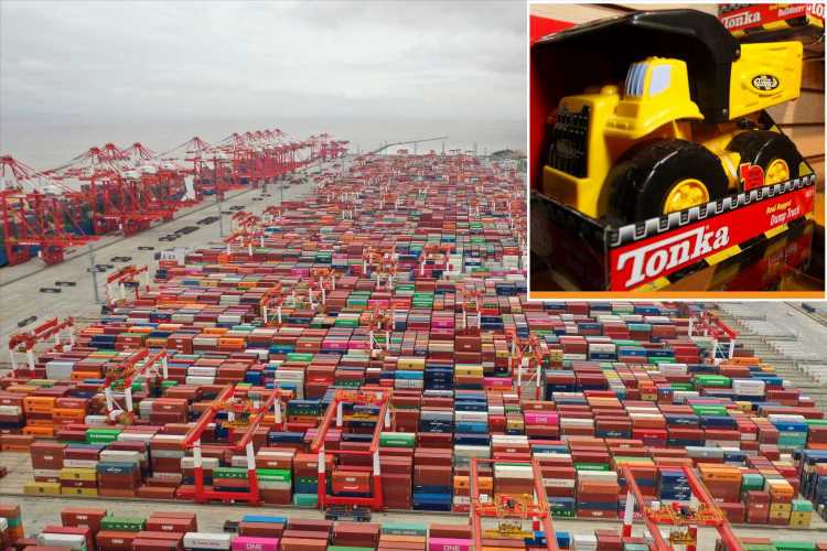 Thousands of Tonka trucks stuck in China as shipping crisis deepens