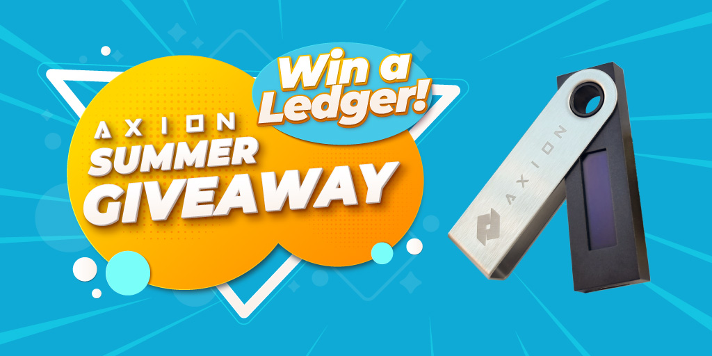 Axion Is Giving Away 2 Ledgers Per Day As A Part Of Its New Summer Giveaway Event