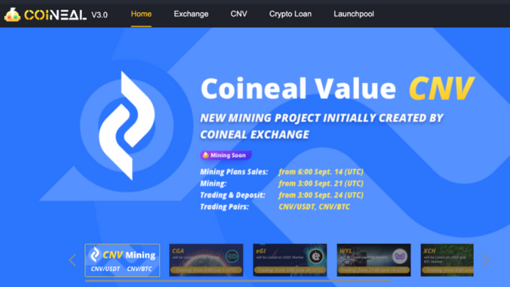 Coineal, A Global Reliable Crypto Trading Platform Starts Launchpool Service