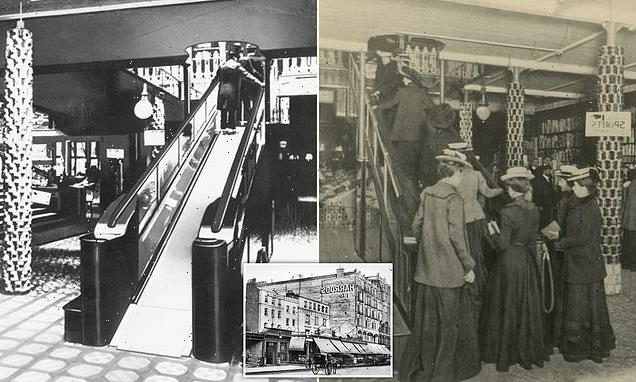 How Harrods opened 'moving staircase' crafted from leather in 1898