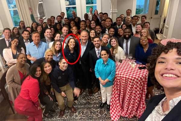 Kamala Harris hosts party for her team at Naval Observatory after claims VP's staffers are 'treated like s**t'