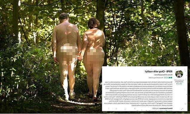 Bands of merry NUDIST men walking in Sherwood Forest startle visitors