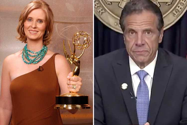 Disgraced Andrew Cuomo trolled by SATC star Cynthia Nixon as he's STRIPPED of his infamous Emmy award