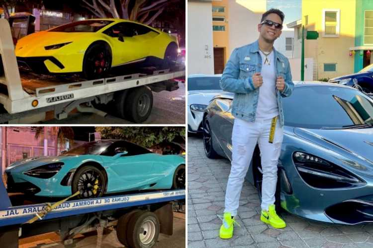 Influencer's fury as cops tow away FOUR of his supercars worth over £750K for speeding around city with pals