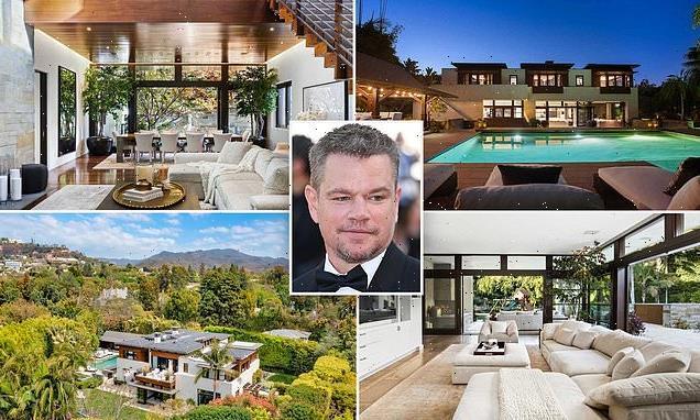Matt Damon is slashing price of his LA mansion by $3.1m