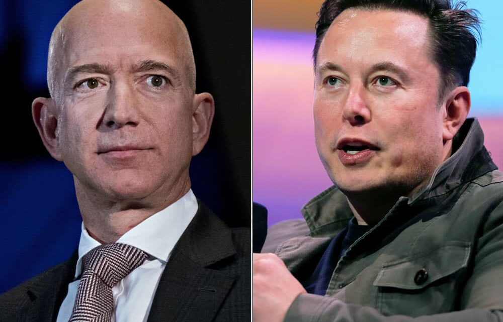 Elon Musk throws another dig at Jeff Bezos' approach to space: 'You cannot sue your way to the moon'