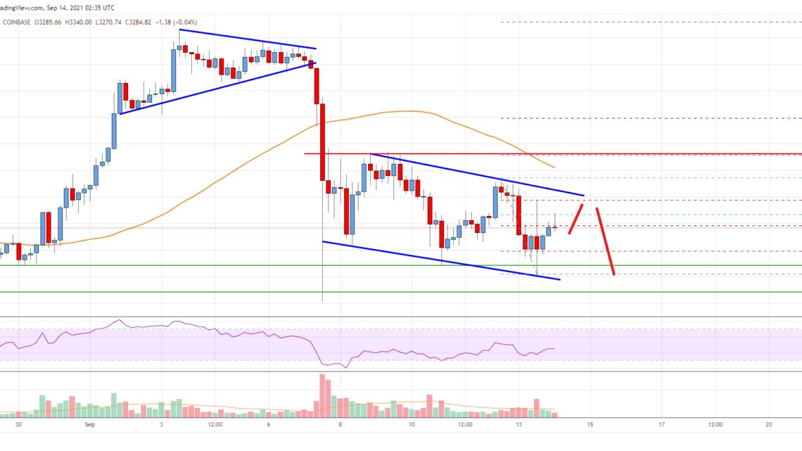 Ethereum Price Analysis: ETH Could Struggle Near $3,400