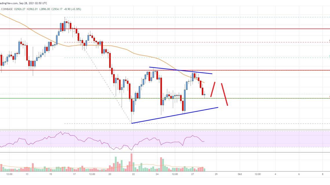 Ethereum Price Analysis: ETH Faces Major Hurdle Near $3,160