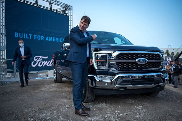 Ford CEO Farley says automaker's stock has 'tremendous upside' even after doubling in his first year
