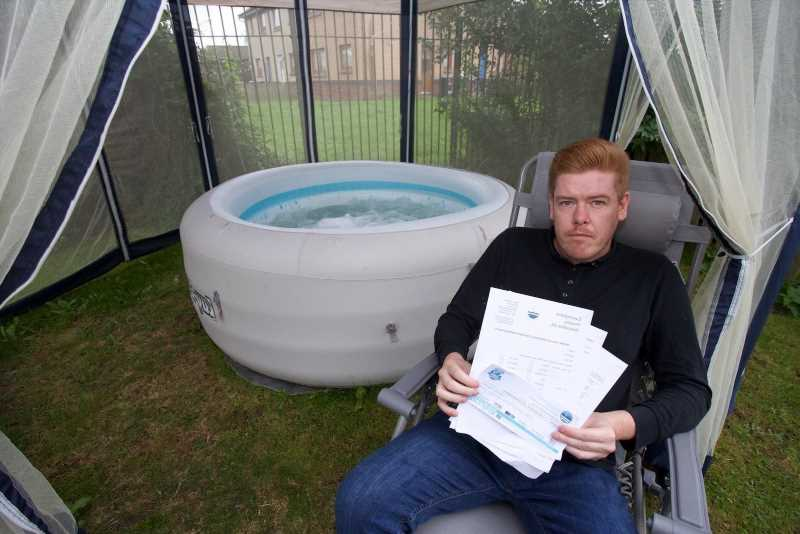 Hot tub salesman fuming as landlord bans him from putting blow up tub in his OWN garden as it 'kills the grass'
