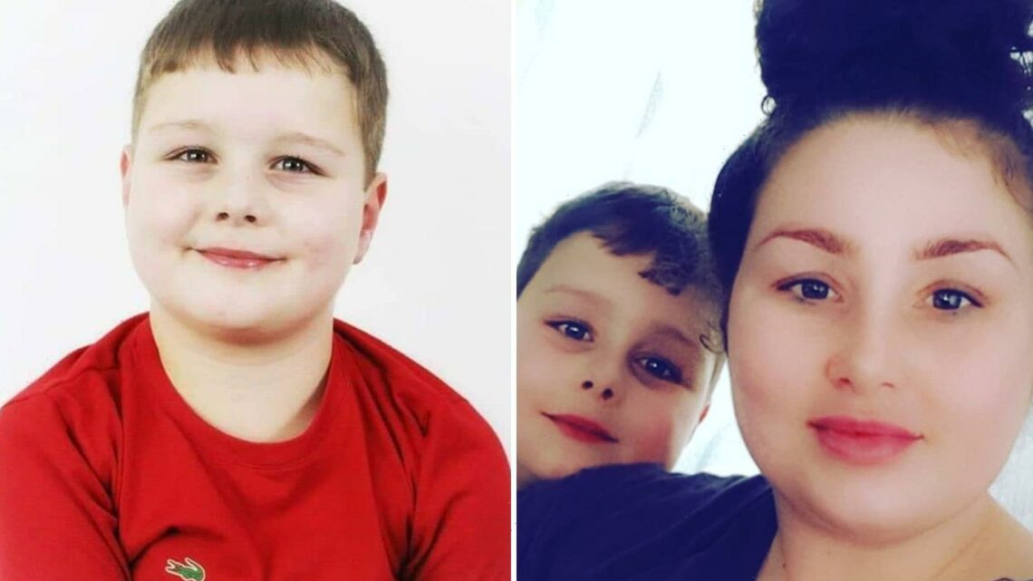 Mum breaks down in tears as she apologises after her son, 9, was mauled to death by 100lb dog as she drank & took drugs