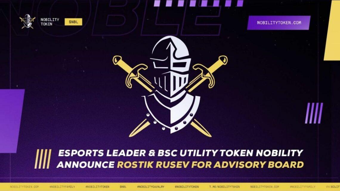 Rostik Rusev Joins Esports Leader & BSC Utility Token Nobility's Board Of Advisors