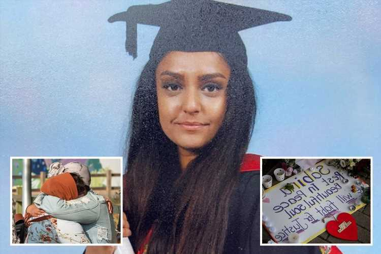 Sabina Nessa's sister visits scene of teacher's murder to read heartbreaking tributes as suspect arrested over her death