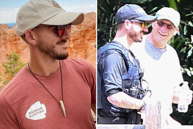 Brian Laundrie sleuths stunned as dad Chris laughs with FBI agent who looks EXACTLY like fugitive son during search