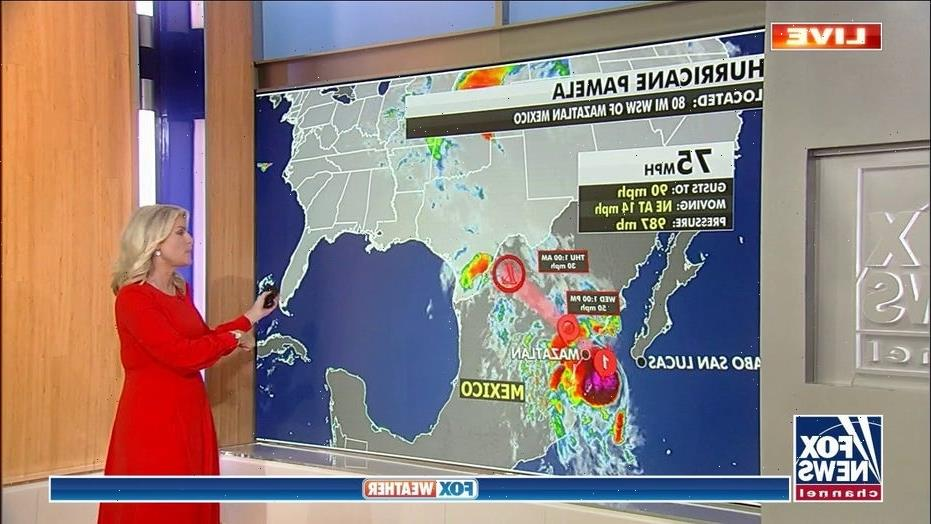 Colder weather forecast in regions across US as Hurricane Pamela brings flooding threats