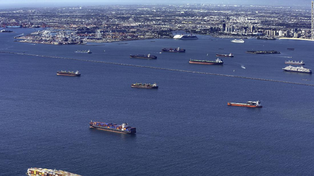 'More ships than parking spots': What a stuck supply chain looks like