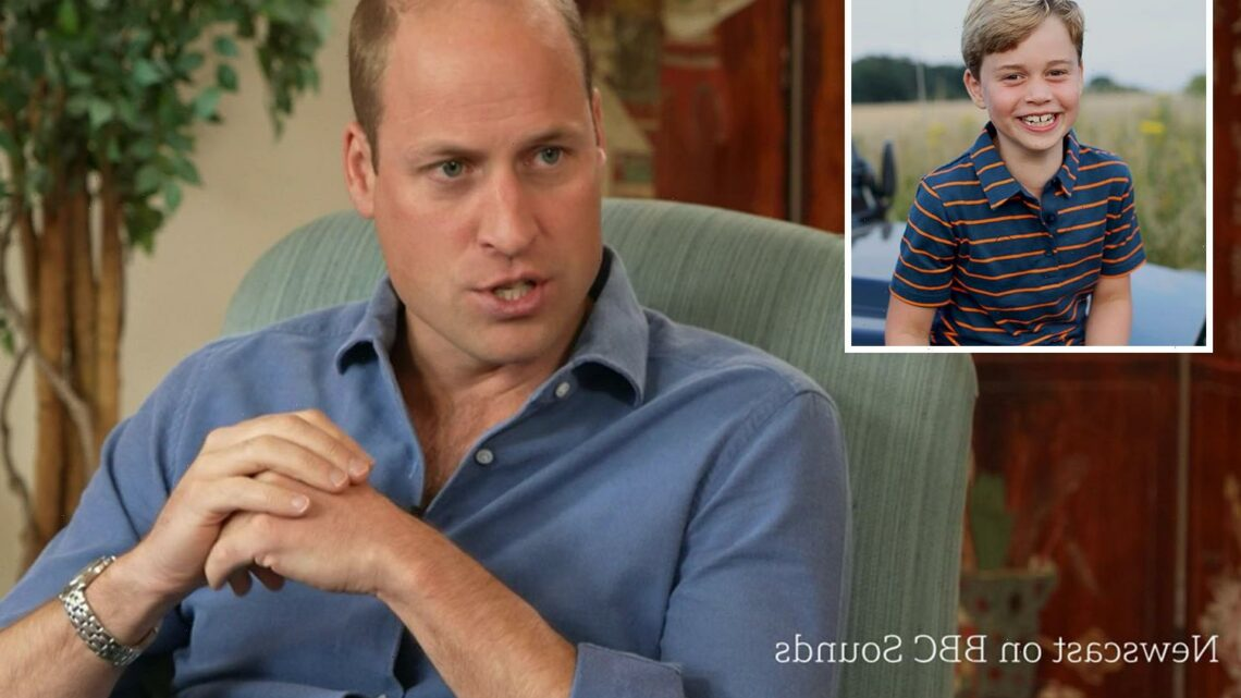 Prince William reveals son George went LITTER PICKING and was 'annoyed' by how much rubbish he found