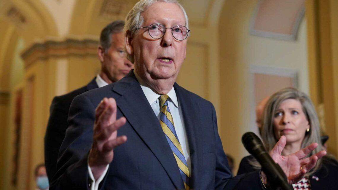 Senate GOP leader McConnell offers short-term debt ceiling extension following pressure from Biden