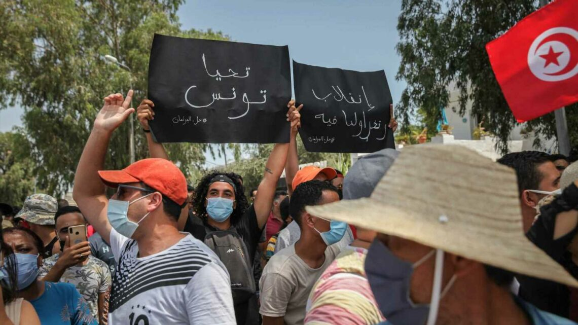 Thousands rally for Tunisian president urging change to political system